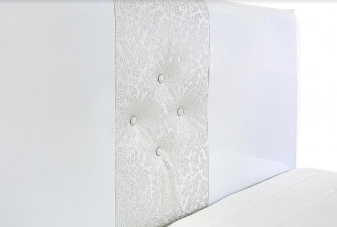 Тапицирано легло Athina Бял лак за матрак 160/200