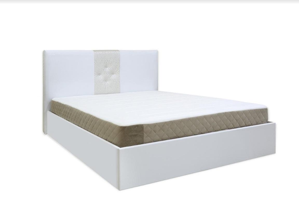 Тапицирано легло Athina Бял лак